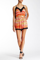 T-Bags LosAngeles Tbags Printed V-Neck Romper