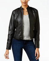 Joujou Jou Jou Juniors' Perforated Faux-Leather Jacket