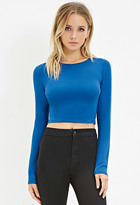Forever 21 FOREVER 21+ Cotton-Blend Crop Top