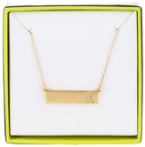BaubleBar 14K Gold Plated Ice &K& Initial Bar Pendant Necklace