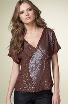 Tonal Sequin Top
