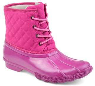 Brinley Co. Womens Two-tone Quilted Boot