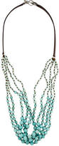 Chan Luu Beaded Leather Necklace