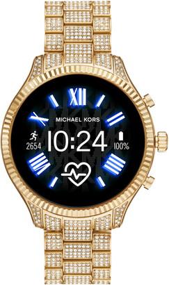 Michael Kors MICHAEL Lexington 2 Pave Crystal Bracelet Smart Watch, 44mm