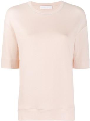 Fabiana Filippi contrast stitching slim-fit T-shirt