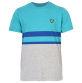 Lyle & Scott Junior Boys Block Stripe T-Shirt Vintage Grey Heather