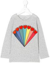 Stella McCartney rainbow hearts printed top - kids - Cotton - 2 yrs