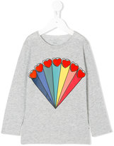 Stella McCartney rainbow hearts printed top