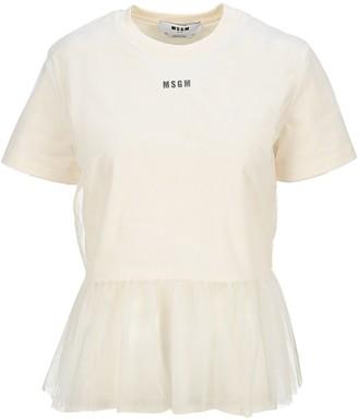 MSGM Tulle Hem T-Shirt