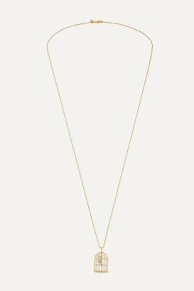 Sydney Evan Albert 14-karat White And Yellow Gold Diamond Necklace - one size