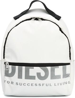 Diesel Logo Print Backpack