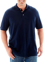 JCPenney THE FOUNDRY SUPPLY CO. The Foundry Big & Tall Supply Co. Solid Piqu Polo