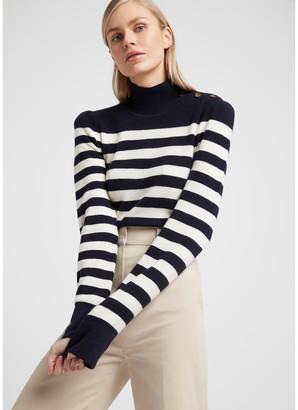 G. Label Mindy Striped Turtleneck