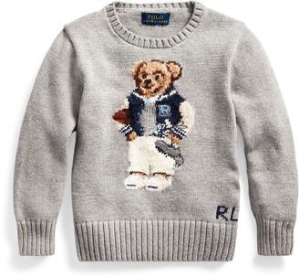 Ralph Lauren Football Bear Cotton Sweater