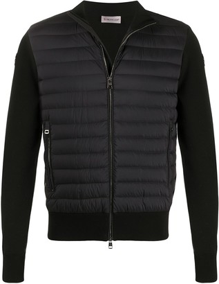 Moncler Padded Panel Knitted Sweatshirt