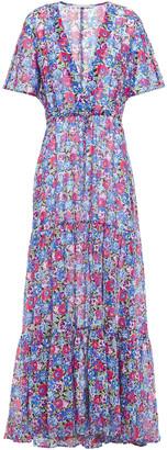 Stella McCartney Cutout Printed Cotton And Silk-blend Maxi Dress
