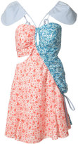 Rosie Assoulin cut-out detail patterned dress - women - Cotton - 0