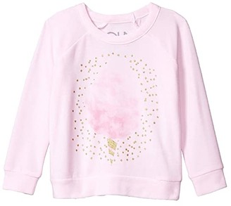 Chaser Cotton Candy Cozy Knit Raglan Pullover (Toddler/Little Kids) (Pinky) Girl's Clothing