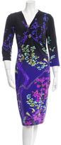 Roberto Cavalli Embellished Printed Dress