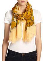 Marc Jacobs Petal-Print Cotton & Silk Scarf