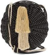 WAI WAI Petite Balaio woven-rattan bag