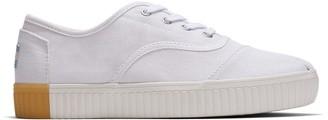 Toms White Canvas Cordones Women's Sneakers
