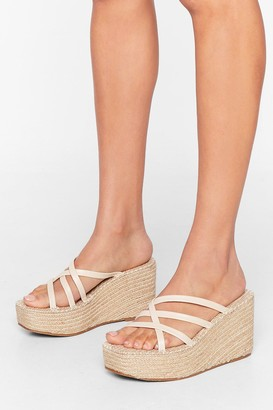 Nasty Gal Up Hill Climb Espadrille Wedges