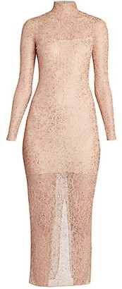 Ralph and Russo Nude Embellished Midi Cocktail Dress
