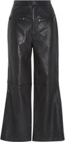 Marissa Webb Mila Leather Cropped Pant