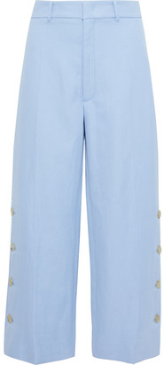 Joseph Fade Ramie And Cotton-blend Twill Wide-leg Pants