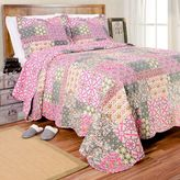 Charisma Reversible Quilt Set in Pink