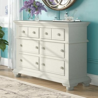 Three Posts Morpeth 6 Drawer Double Dresser Color: Distressed Eggshell White
