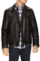 Members Only Woven Spread Leather Jacket