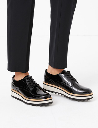 Marks and Spencer Leather Chunky Lace Up Brogue Shoes