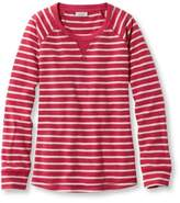 L.L. Bean Women's Textured French Terry Pullover, Stripe