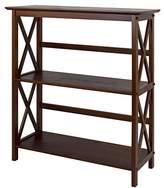 Montego 3-Shelf Bookcase-Walnut