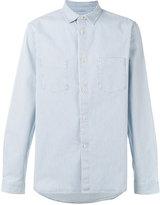 A.P.C. chest pockets striped shirt - men - Cotton/Spandex/Elastane - M