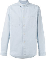A.P.C. chest pockets striped shirt