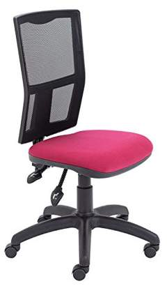 Camilla And Marc Office Hippo Mesh High Office Chair with Permanent Contact Back, Fabric, Claret, 50 x 50 x 91 cm