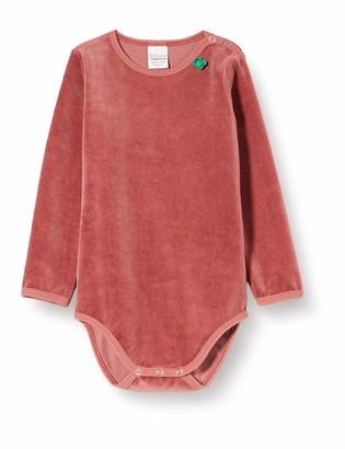 Fred's World by Green Cotton Baby Girls' Velvet Body Shaping Bodysuit