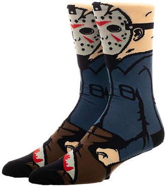 Bioworld Men's Socks - Friday the 13th Jason Crew Socks - Men