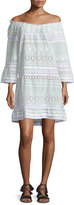 Calypso St. Barth Junomia Off-The-Shoulder Eyelet Dress, White