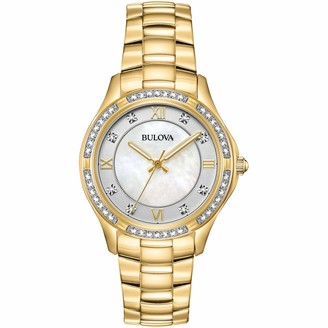 Bulova Women's Analogue Classic Quartz Watch with Stainless Steel Strap 98L256