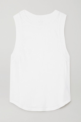 YEAR OF OURS The Perfect Muscle Cotton-jersey Tank - White