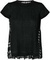 Sacai Star Print Back T-Shirt - Black