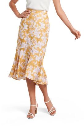 Forever New Valerie Button Down Midi Skirt