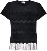 RED Valentino point d'esprit scalloped T-shirt