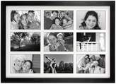 "Malden Matted Black 9-Opening 4"" x 6"" Collage Frame"
