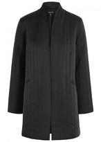 Eileen Fisher Dark Grey Quilted Silk Jacket