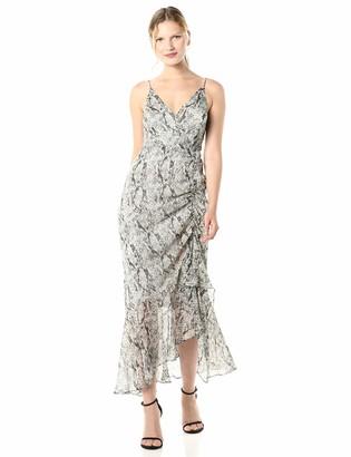 ASTR the Label Women's Mariah Sleeveless Ruched Midi Dress